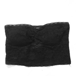 Forever 21 Black Lace Strapless Bandeau Bra (NWOT)