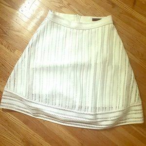 J Crew Striped Eyelet Skirt, White, Size 00, NWT