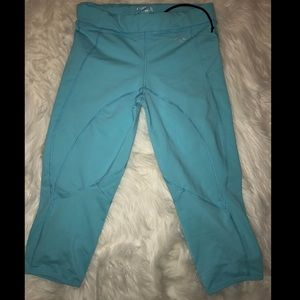 Bebe sport turquoise crop  pants SZ Small