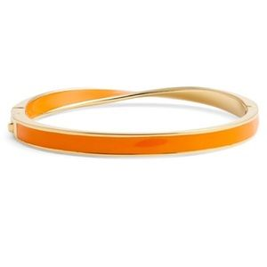 Kate Spade NWT Orange Bangle with Hinge Opening