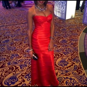 Red BCBG GOWN