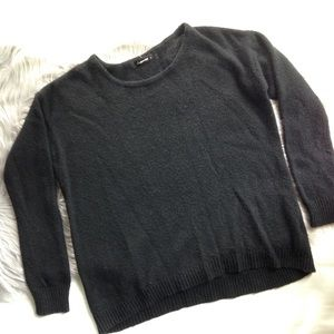 UO Olivaceous black oversized boxy sweater small