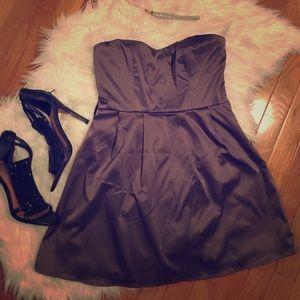 Forever 21 Gray Strapless Cocktail Dress