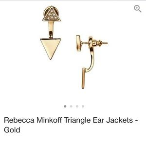 Rebecca Minkoff Double Triangle Front-Back Earring