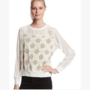 Rebecca Minkoff Silk Metallic-brocade Sweater