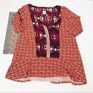 Akemi + kin Anthropologie aztec tunic small
