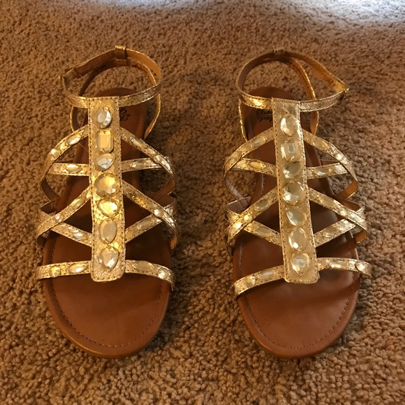 76a7bd278f1f Faded Glory Shoes - Gold Sandals