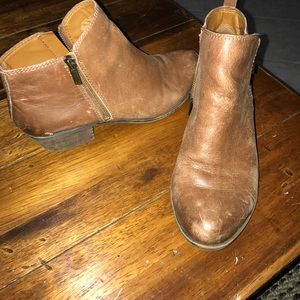 Lucky Brand Leather Ankle Boots sz 8