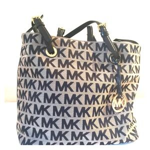 Michael Kors Black and Tan tote handbag