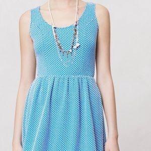 Anthropologie Maeve Polka Dot Dress, Size Large