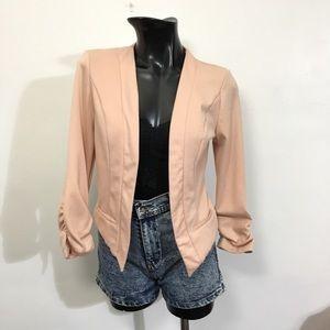 Lace cut out blazer