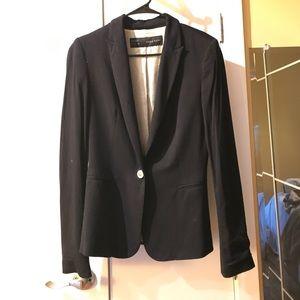 Black Zara Basics Blazer