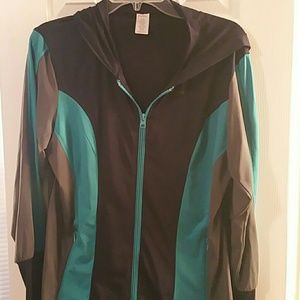 Curves zip up hoodie size Large