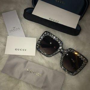 Gucci Swarovski rhinestone sunglasses