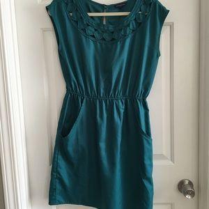Banana Republic Turquoise Cutout Dress