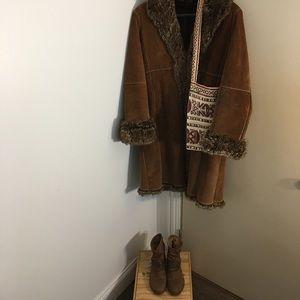 Wilson's Ling Suede Coat Trim Faux Fur