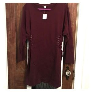 Wine Colored Dress from Urban Outfitters