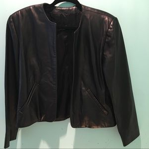Jackets & Blazers - 🆕👑Soft Black Open Front Leather Jacket XS NWOT