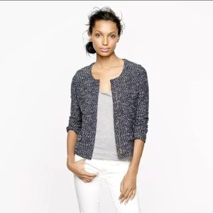 J. Crew navy micro tweed blazer jacket