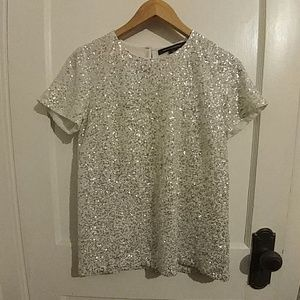 French connection sequined top