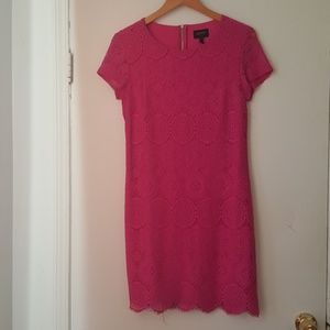 NWOT Laundry by Shelli Segal fusia lace dress