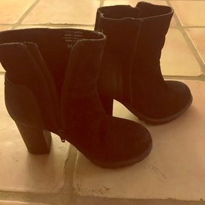 Shoes - Man-made real leather boots women's size 37 heels