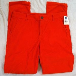 Gap Khakis Broken-In Straight Lava Orange Corduroy
