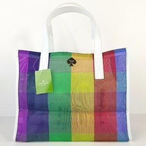Kate Spade Tote Shopper Multi-color Medium Nylon
