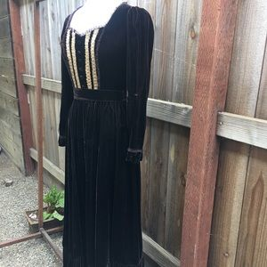 Gorgeous vintage velvet maxi dress