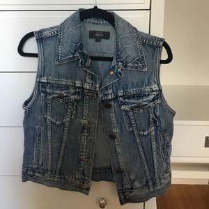 J Crew sleeveless jean jacket