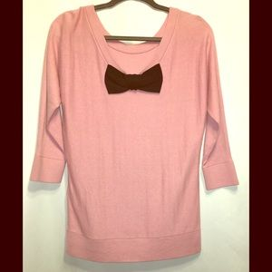 Kate Spade sweater pink with bow on back