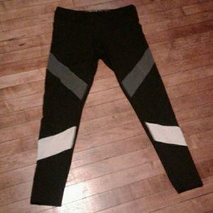 Champion gray and white striped leggings