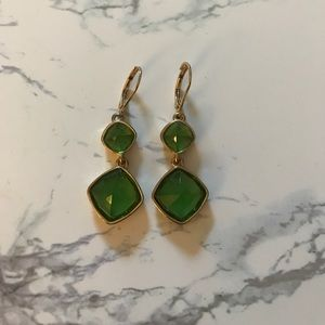 Jewelry - Green drop earrings