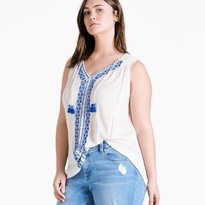 Lucky Brand Top Size 1X Plus New with Tags