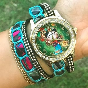 New Frida Kahlo Watch Multistrand Bracelet Mexican