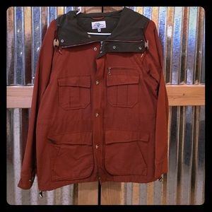 L.L Bean rain coat with zip-off sleeves