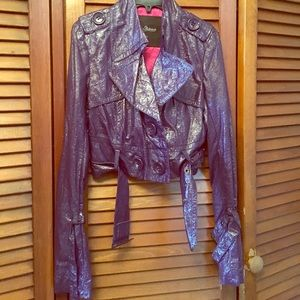 Short purple jacket
