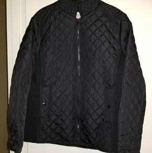 Black quilted jacket size 1x excellent condition