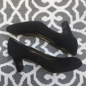 Calvin Klein size 11 black suede pump.