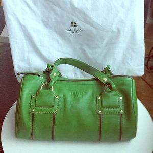 Kate Spade vintage green barrel bag