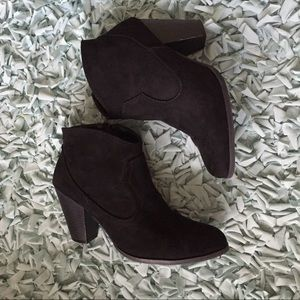 Black booties size 9