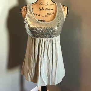 INC sequined tank top
