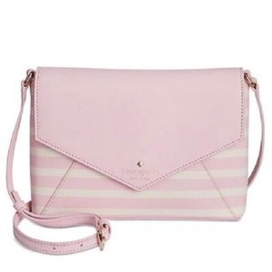 ✨NWT✨ Large Monday Pink Stripe Crossbody Bag
