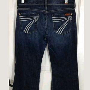 7 For All Mankind Dojo Jeans 26 Seven 7FAM