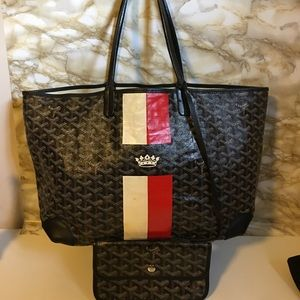 Saint Louis Goyard PVC leather PM Tote with pouch