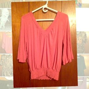 American Rag pink 3/4 sleeve top