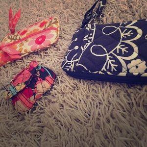 3 Vera Bradley clutches