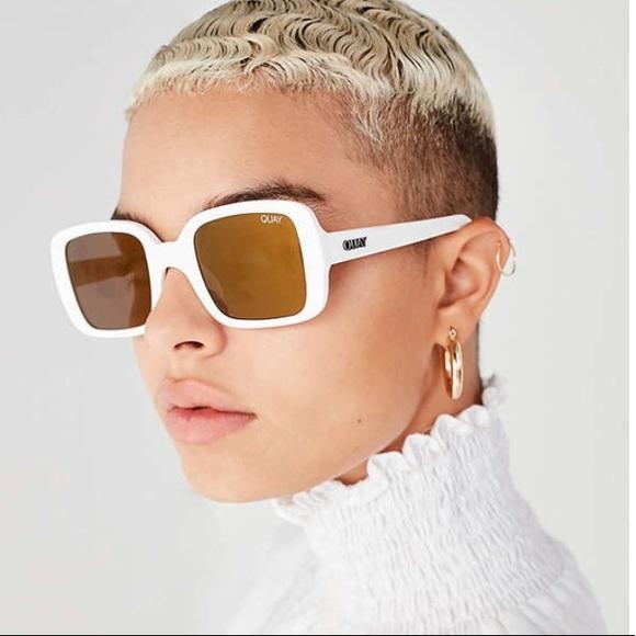 ec5ac752b7 Brand New quay Kylie 20 s White drop sunglasses 🕶.  M 59e7584f4e95a355b208857f