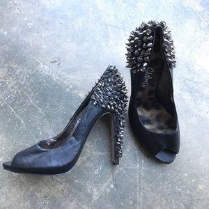 Sam Edelman Black Spike Heels 8.5