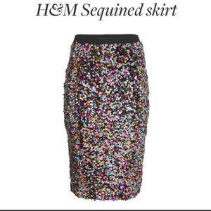 H&M Midi Sequin Skirt